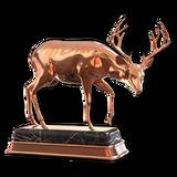 Blacktail deer bronze