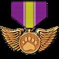 Bird medal bronze