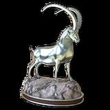 Alpine ibex silver