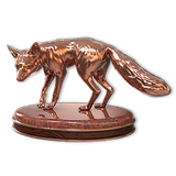 Red fox bronze