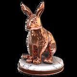 Snowshoe hare bronze