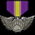 Bird medal hematite