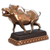 Feral hog bronze
