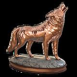 Grey wolf bronze