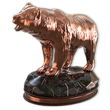 Grizzly bear bronze