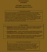 Vincenté North Psychological Assessment