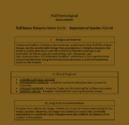 Kaiaphas North Psychological Assessment