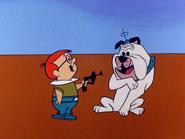 Arthur Spacely kills a dog