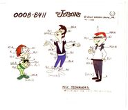 Jetsons Production Animation Model Cel COPY Hanna Barbera 1984 space Teenagers 4
