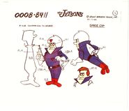 Jetsons Production Animation Model Cel COPY from Hanna Barbera 1984 Cop George