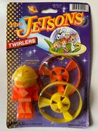 Jetsons Twirlers Toy - 1990 Ja-Ru Toys - Unused in Package Hanna-Barbera