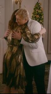 Johnny Amanda hug