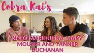 Xolo Maridueña, Mary Mouser and Tanner Buchanan talk 'Cobra Kai' at SDCC