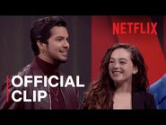 The Netflix Afterparty - Mary And Xolo From Cobra Kai Talk Awkward First Kisses - Netflix