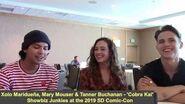 Cobra Kai - Xolo Maridueña, Mary Mouser, Tanner Buchanan Interview
