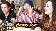 Xolo Maridueña, Tanner Buchanan & Mary Mouser COBRA KAI Interview!
