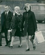 Charles Kray and Violet, leaving Brixton Prison in March 1969, shortly after the twins arrest. Carol Thompson, a friend of Reggie accompanes them.