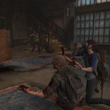 Joel and Ellie fight Infected as two.jpg