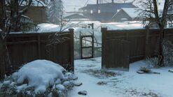 Joels house back gate side