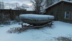 Joels house back boat