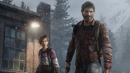 Joel et Ellie en hiver