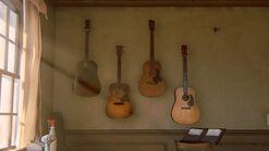Joels house studio guitars