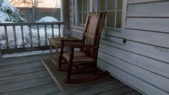 Joels house front porch chair