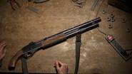 Shotgun on workbench