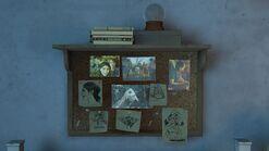 Ellies house - noticeboard