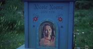 Nicole Noone's grave in Santa Maria Cemetery