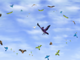 Битва птиц Земель прайда со стервятниками
