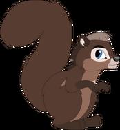 Mhina as a squirrel