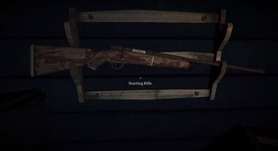 Hunting Rifle found in the Trapper's Homestead