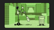 S2E20A Housekeeping robot cleaning the kitchen