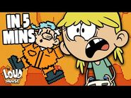 Addicted To Video Games! 'Game Off' In 5 Minutes - The Loud House