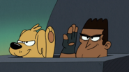 S4E11B Colonel Austin and Goldie high five