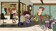 S1E16A Howard blowing saxophone