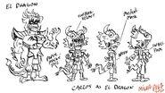 CS2E08B El Dragon drawing