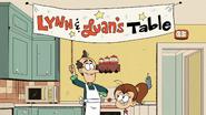 S4E23B Lynn and Luan's table