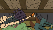 S1E10A Lincoln puts the guitar under the bed