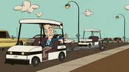 S3E15A Huggins with Clyde's new Golf cart