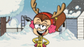 S2E01 Luan in her Christmas outfit
