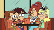 S5E10B Luan tells Brita that they invited her to dinner