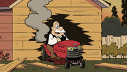 S2E17B Mr. Grouse accidentally wrecks his own garage