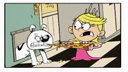 S2E23A Charles biting Lola's pizza