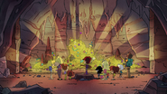 S5E18 The treasure the captain left behind is a large collection of shiny coins and gems