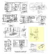 S1E17B Storyboard and Layout Drawings