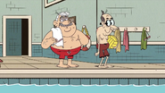 S4E14B About to play ball in the pool