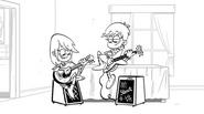 Luna and Sam storyboard