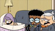 S1E14B Lincoln and Clyde flop on the couch